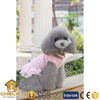 more than 500 models available dog dress with nice lace bottom made from soft and good handfeel fabric in pink yellow and purple