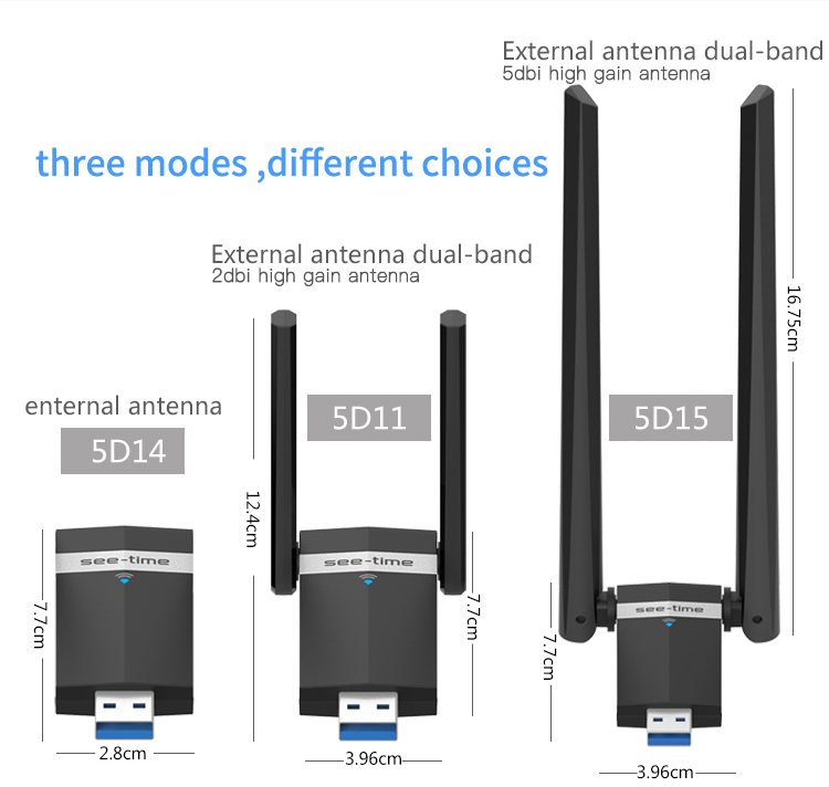 1200Mbps wifi usb adapter