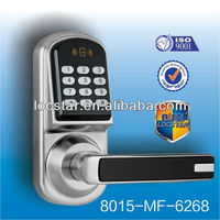 electric panel door lock with keypad and card