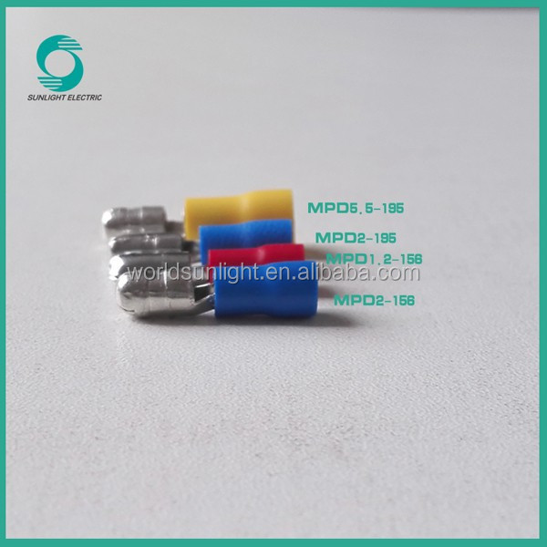 Tinned MPD series insulated crimp bullet connector terminal