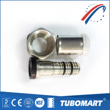 OEM factory brass movil union U type brass press fittings for heating pipes