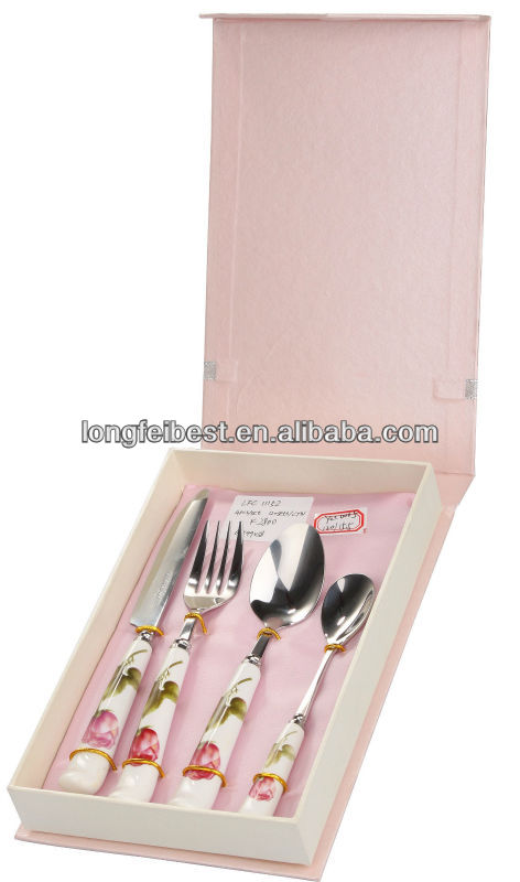 Stainless Steel cutlery, tableware, spoon, fork, knife 4pcs