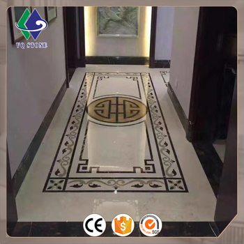 Factory price tile marble custom floor waterjet medallion