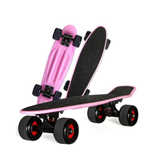 Wholesale 22inch plastic skateboard with griptape mini cruiser skateboard big wheels