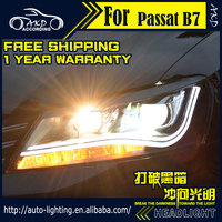 AKD Car Styling for VW Passat B7 2012-2015 LED Headlight LED Head Lamp Projector Bi Xenon Hid H7