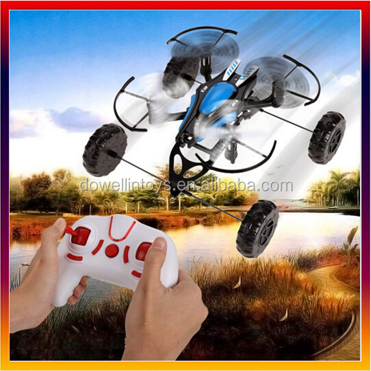2.4GHz 4CH 3 in1 6 Axis Gyro Drone RC Quadcopter Land and water