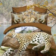 Direct New Comforter Bedding Sets 3D Bed Sheet Set Duvet Cover leopard King or Queen Size Beddings Reactive Printing Beds .