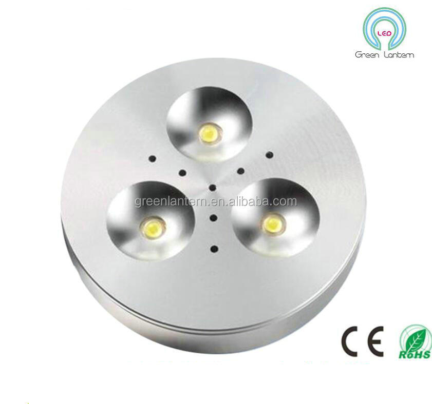 LED puck light 3W 12V ultra thin round LED under cabinet light kitchen lamp