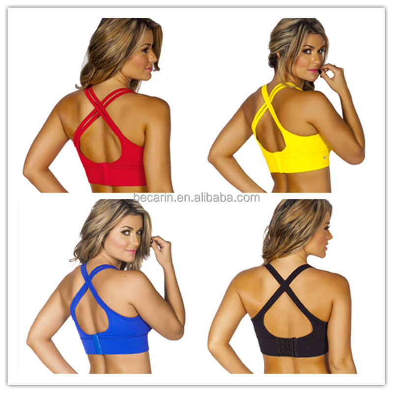 custom made sublimation printed dry fit supportive women sports bra