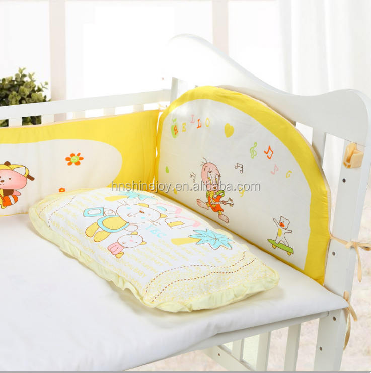 hot-selling soft and comfortable 100% cotton baby bedding sets crib baby bed linen
