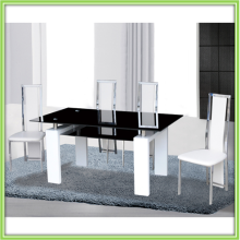 Big Black Double Layer Glass Dining Tables