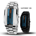 High Quality Women Men Lovers' 3D Display Digital LED Watches Silver Black Stainless Steel Watch Manufacturer Supplier Exporter