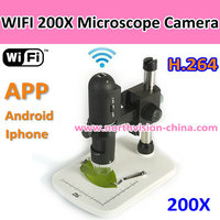 For Lab/student/biology/jewelry, 200X wifi digital microscope
