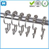 Heavy Duty Metal Shower Curtain Rings Hooks Hanger
