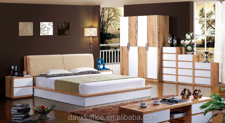 teak wood double bed designs modern new model bed china furniture