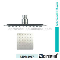 stainless steel LED top shower head LEDTS1017