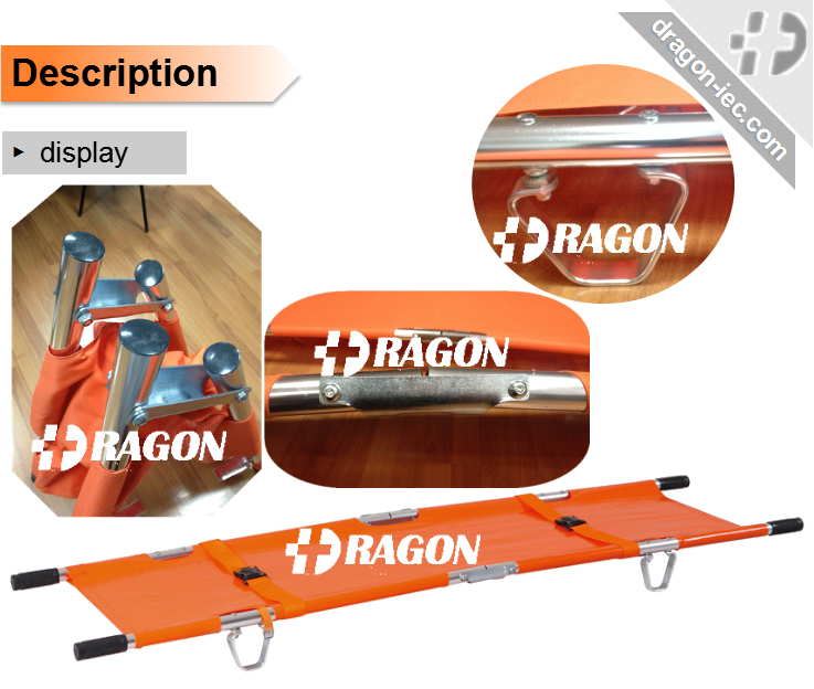 DW-F002 Emergency Aluminum Alloy folding stretcher with CE standard