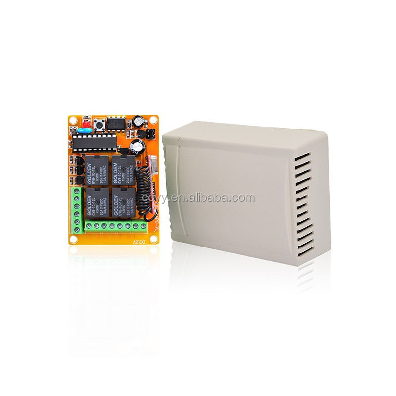 315 Mhz/433Mhz Wireless Radio 4 Channel 12v rf Transmitter Receiver CY404PC-V4.0