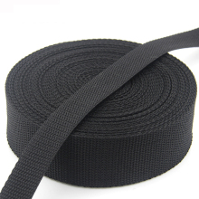 2017 Factory direct sales wholesale custom black PP plain webbing belt