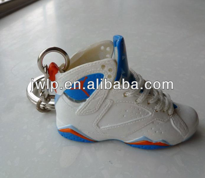 3d mini air jordan sneaker keychains