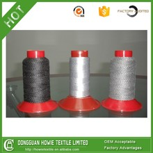 1/10 NE TETORON 92.5% STAINLESS STEEL 7.5% BLACK CONDUCTIVE YARN BLENED YARN
