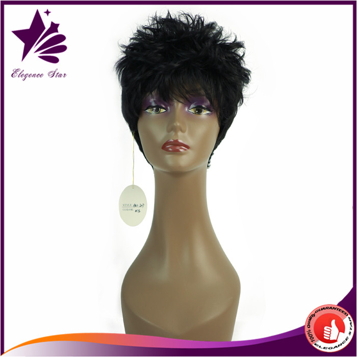 Facoty Machine To Make Synthetic Hair Short Wigs Natural Girls Hair Wig Wholesale