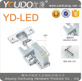 LED light for kitchen cabinet door hinge