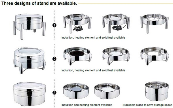 4L luxury buffet equipment catering dispalyer chafing dish