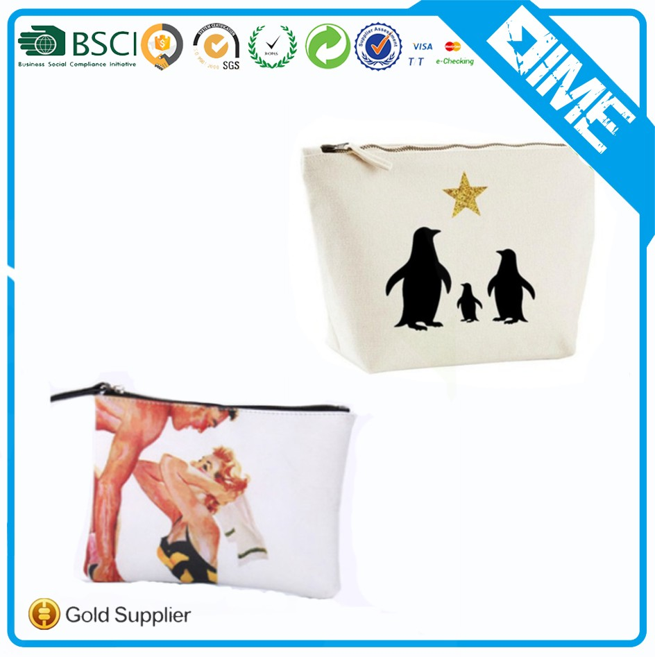 Promotional Custom Printed Canvas Cosmetic Bag Makeup Bag
