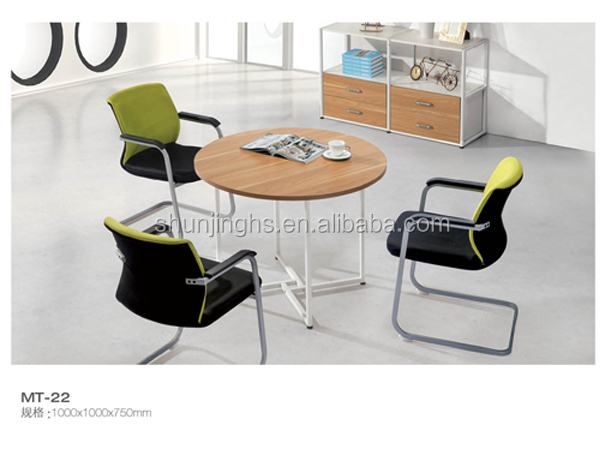 Modern Special Steel Leg Round Office Discussion Table, Meeting Desk