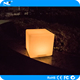 Rechargeable color change outdoor plastic LED decorative mood light up cube