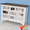 European country shabby chic color antique white cabinet