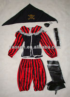 Halloween Pirate costume with Pirate bandana for Children