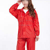 2015 Hot Selling Wholesale Red Polyester Motorbike Waterproof Material Women Rain Wear