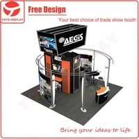 Yota custom AEGIS 20x20 or 6x6 booth,portable trade show exhibition booth stand