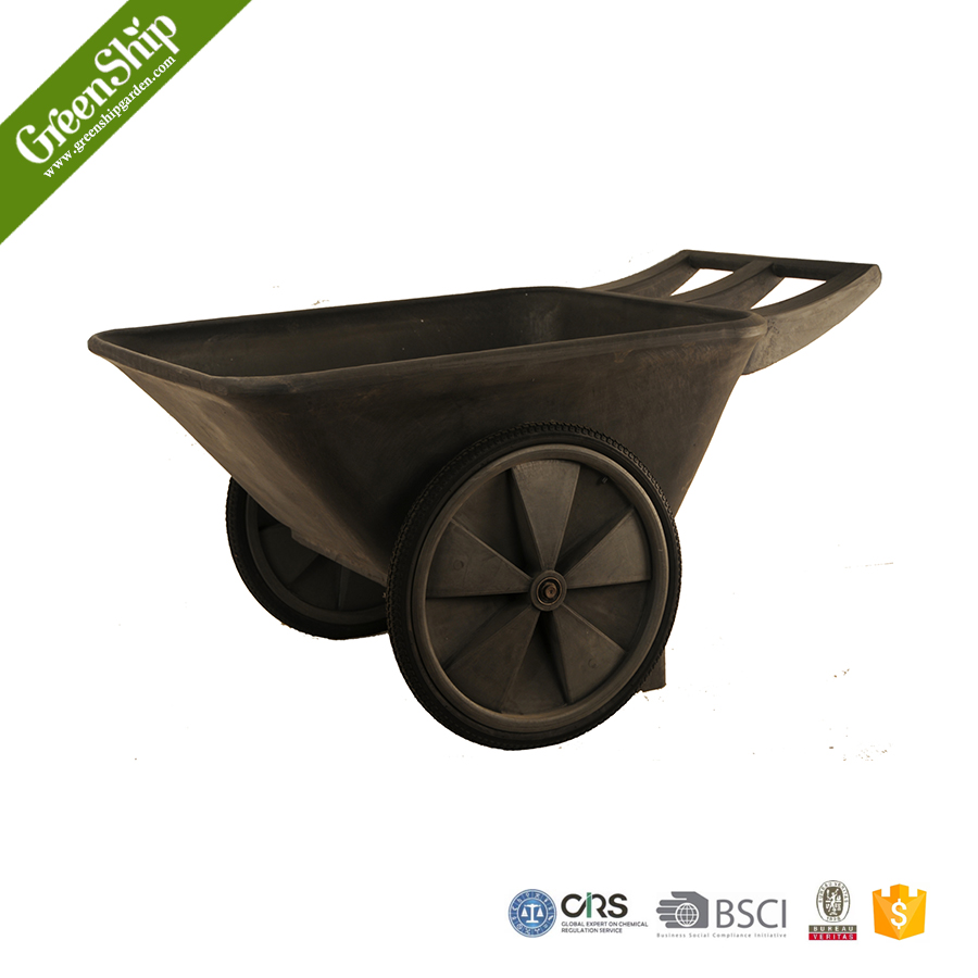Outdoor Decorative Wheelbarrow For Gardening from Greenship/ 20 years lifetime/ lightweight/ UV protection/ eco-friendly