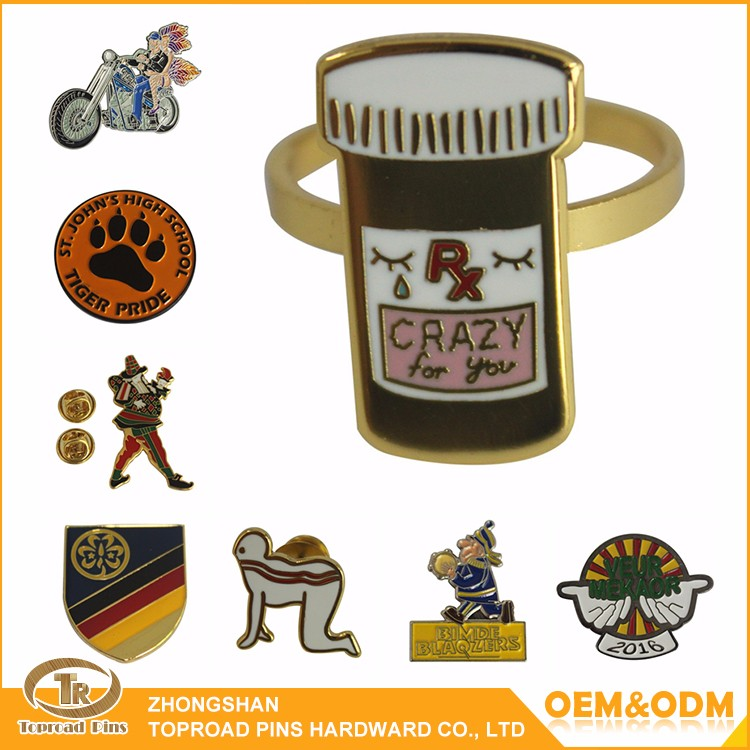 China manufacturers High Quality Custom Cup Shape Blank Hard Enamel Lapel Pin