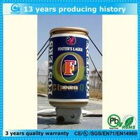 high quality advertisement inflatable beer can for promotion