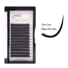 wholesale cc curl private label Synthetic air <strong>flat</strong> eyelashes individual silk eye lash extension