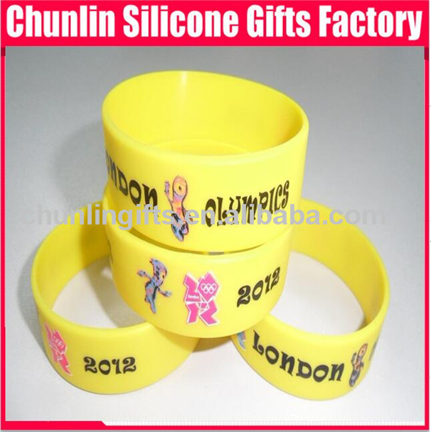 1 inch 2012 olympic games Silicone Wristbands