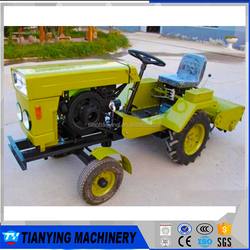 12HP Four-wheels Diesel Mini Farming Tractor for Small land use