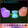 Lovely Style LED Illuminated Table and Chairs with Remote Control Factory Direct Outdoor Nail Bar Furniture