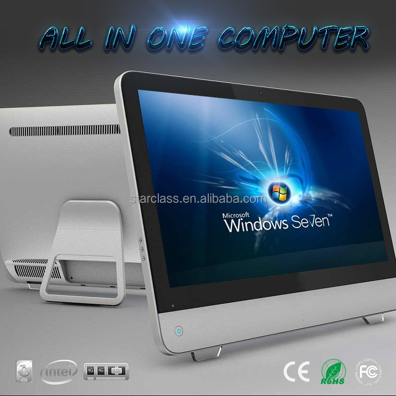 27 high quality integrated thin client all in one pc desktop computer quad core I7 processor