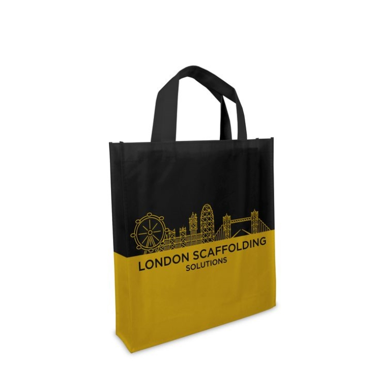 hot eco grocery shopping bag environmental folded green laminated non-woven shopper tote shopping bags malaysia