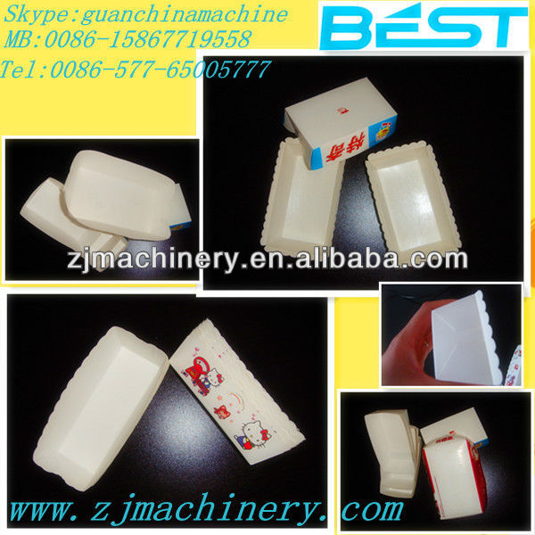 The latest paper lunch box machine ,lunch box making machine,small paper box making machines