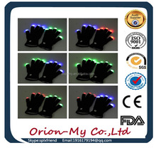 led flashing light glove LED Gloves Multicolor led finger light gloves