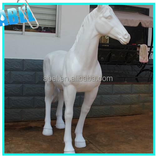 Life size fiberglass statue horse for business decoration