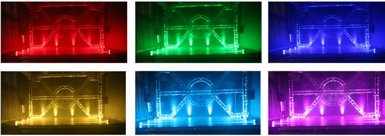4x10w RGBW/A/UV 4/5/6in1 zoom wireless battery powered led uplights /christmas led lights