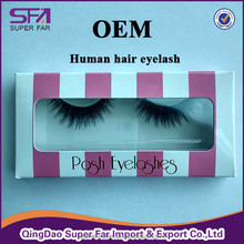 custom eyelash packaging human hair red cherry eyelashes