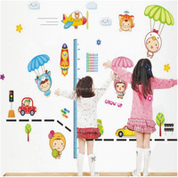 kids height growth chart wall sticker